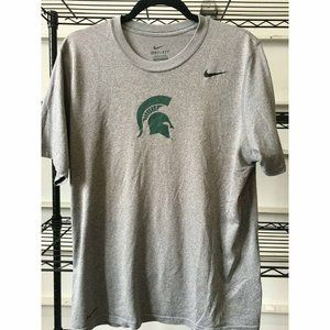 Nike Michigan State Spartans T-Shirt, Gray, Size M